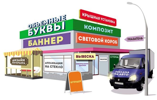 Наружная реклама в Самаре. Рекламные конструкции - работка, изготовление и монтаж по доступным ценам.