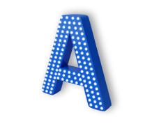 Объёмные буквы с пиксельными светодиодами