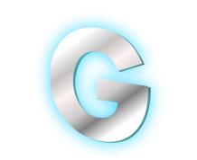 Плоская буква — контражурная подсветка